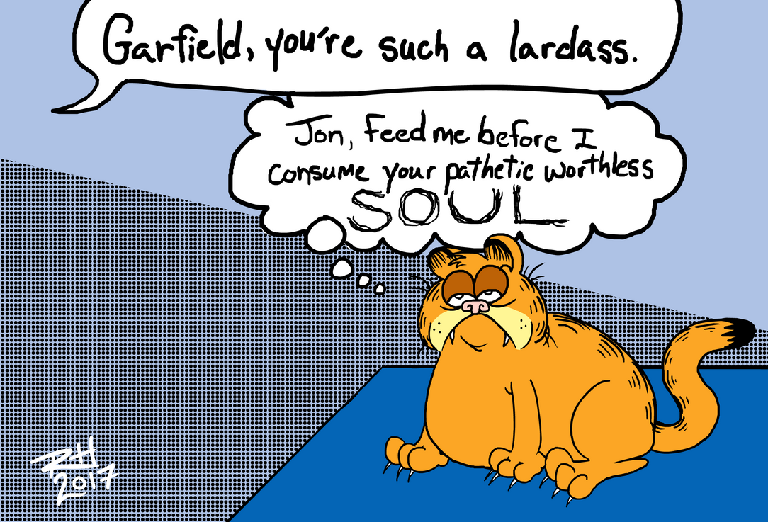 Garfield Is Hungry by iceblockclock