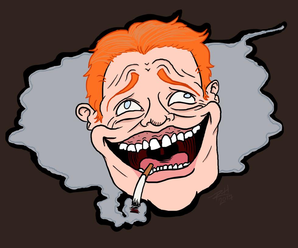 Laughing Man by iceblockclock