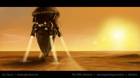 Speedpainting (The Fifth Element)