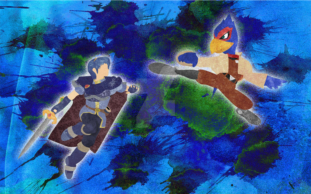 Marth and Falco by Schmorgyborgy