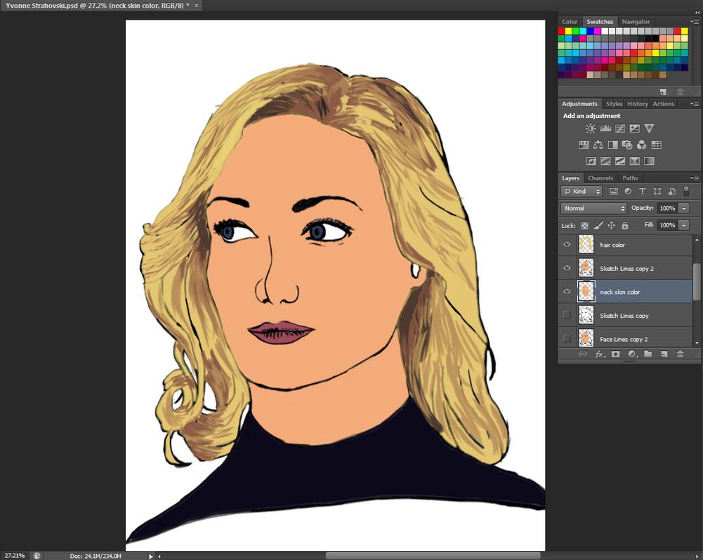 Yvonne Stravhovski work in progress by BannedFiveToOne
