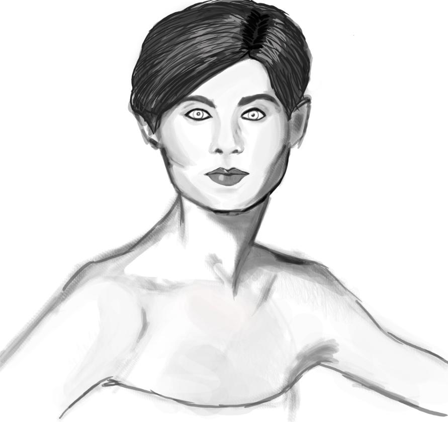 Black And White Portrait Study by BannedFiveToOne