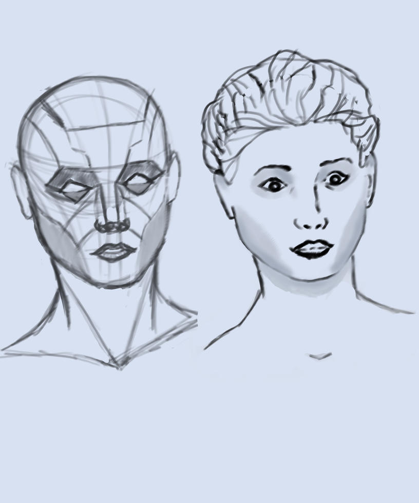 Comic Book Face Practice by BannedFiveToOne
