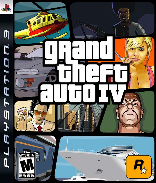Grand Theft Auto IV Box Art by SlimTrashman