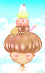 Sweet hairstyle of ice cream