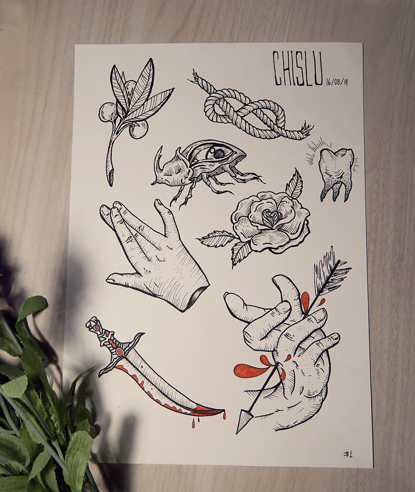 First Tattoo Flash by ChisLu