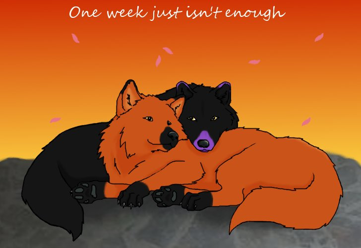 Wolf Couple by crazylunagirl