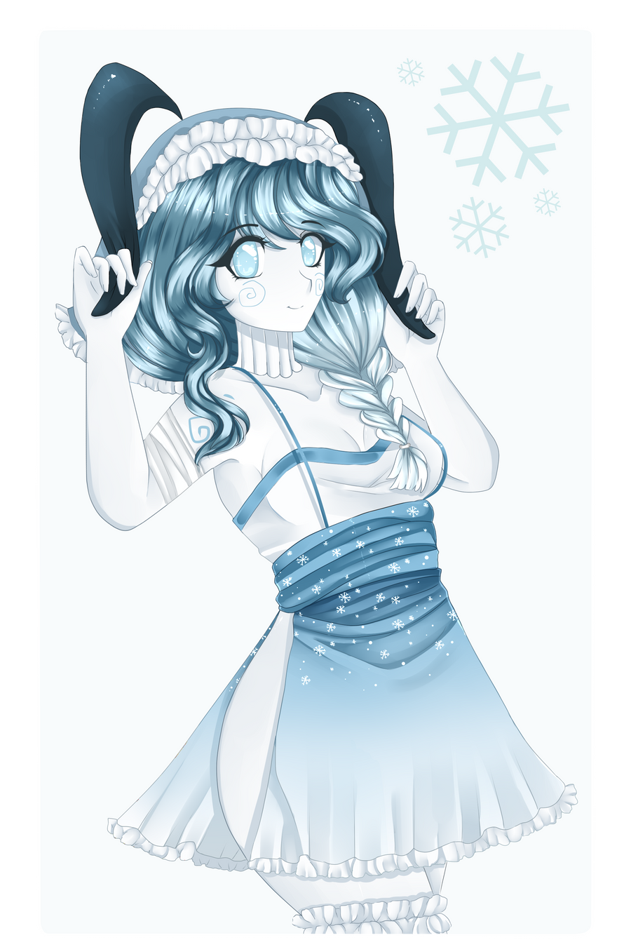 Ocs--Ice Bunny by Purrinee