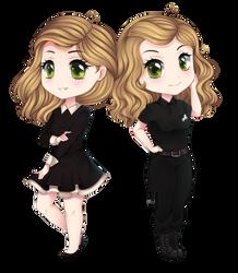 PPC-- Twins by Purrinee