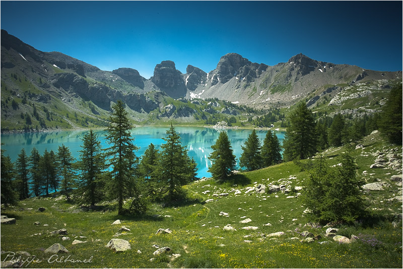 Allos Lake by Philippe-Albanel