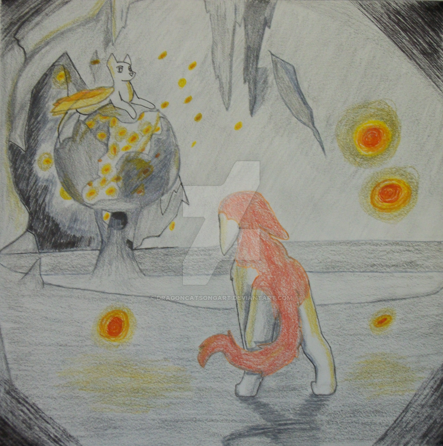 Fireflies in a Cave by DragonCatSongArt