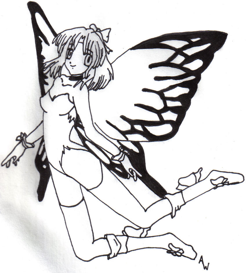 black and white fairy by whiteleaf55 on deviantart