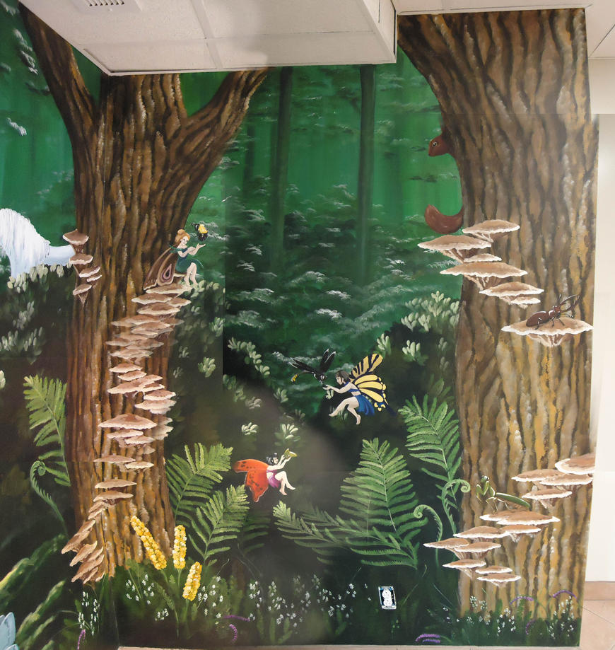 Fairy wall murals best free home design idea for Fairy tale wall mural