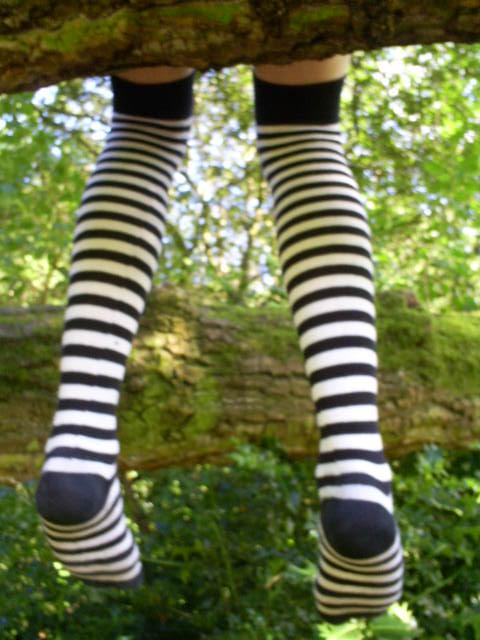 Stripy Emo Socks by emo-bex