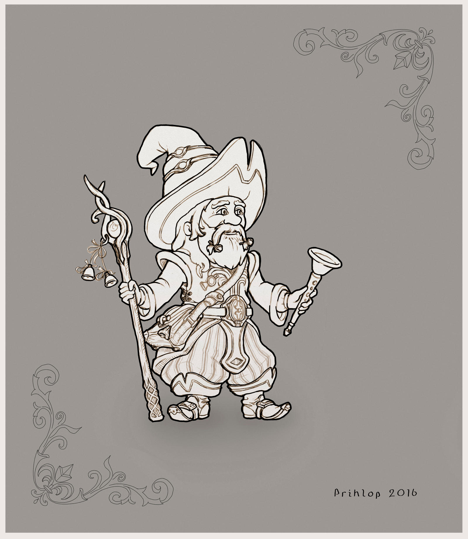 Old wizard by Prihlop