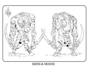 Skins and Moans Coloring page