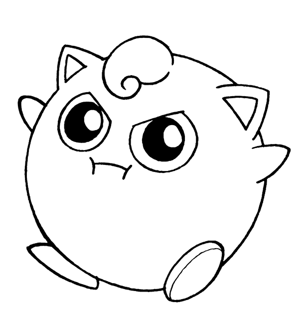 Jigglypuff lineart by flintofmother3 on deviantart for Jigglypuff coloring page