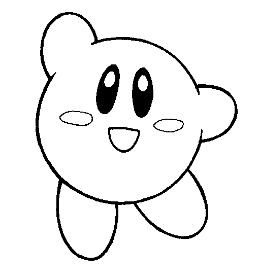 Kirby lineart by flintofmother3 on deviantart for Nintendo kirby coloring pages to print
