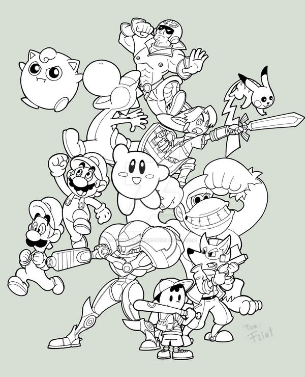 Smash Brothers 10th aniversary by FlintofMother3 on DeviantArt