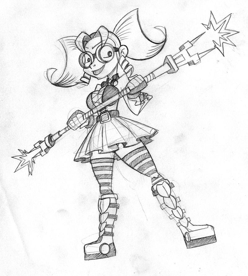 Sketch 01 Aliane by FlintofMother3