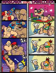 Mascara vs cabellera by FlintofMother3