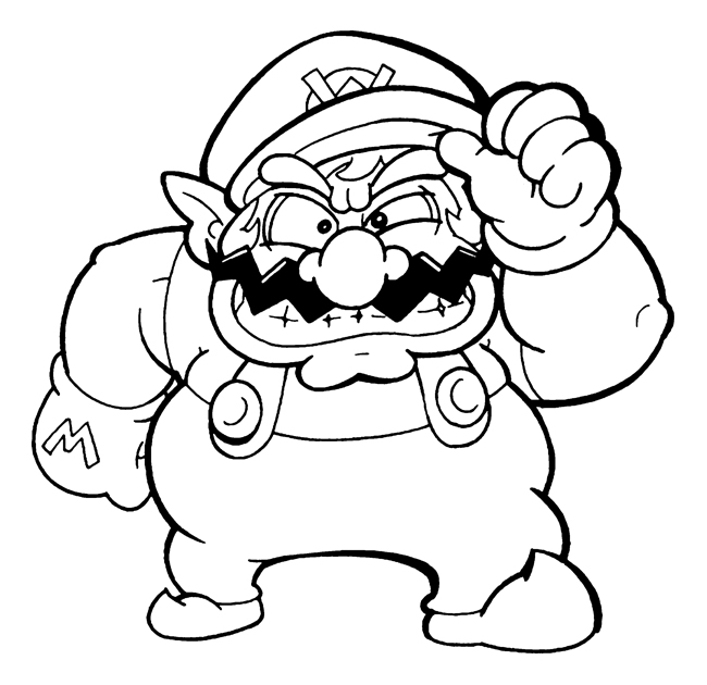wario coloring pages - wario by flintofmother3 on deviantart