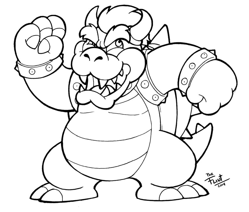 Dry Giga Bowser Coloring Pages