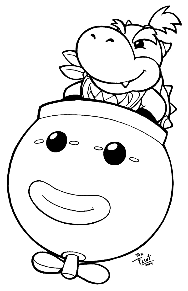 mario bowser junior coloring pages - photo#9