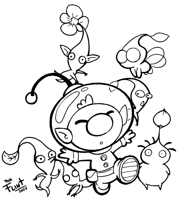pikmin bulborb coloring pages - photo#9