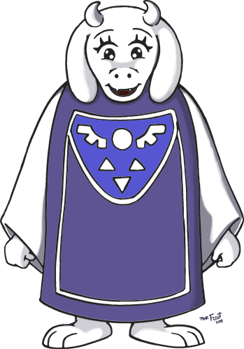 Playable Characters Toriel_by_flintofmother3-d9dl8ed