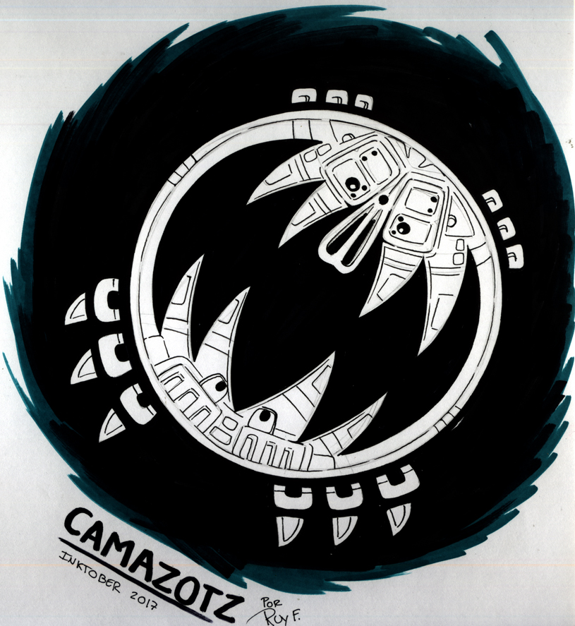 Inktober 21 CAMAZOTZ by FlintofMother3