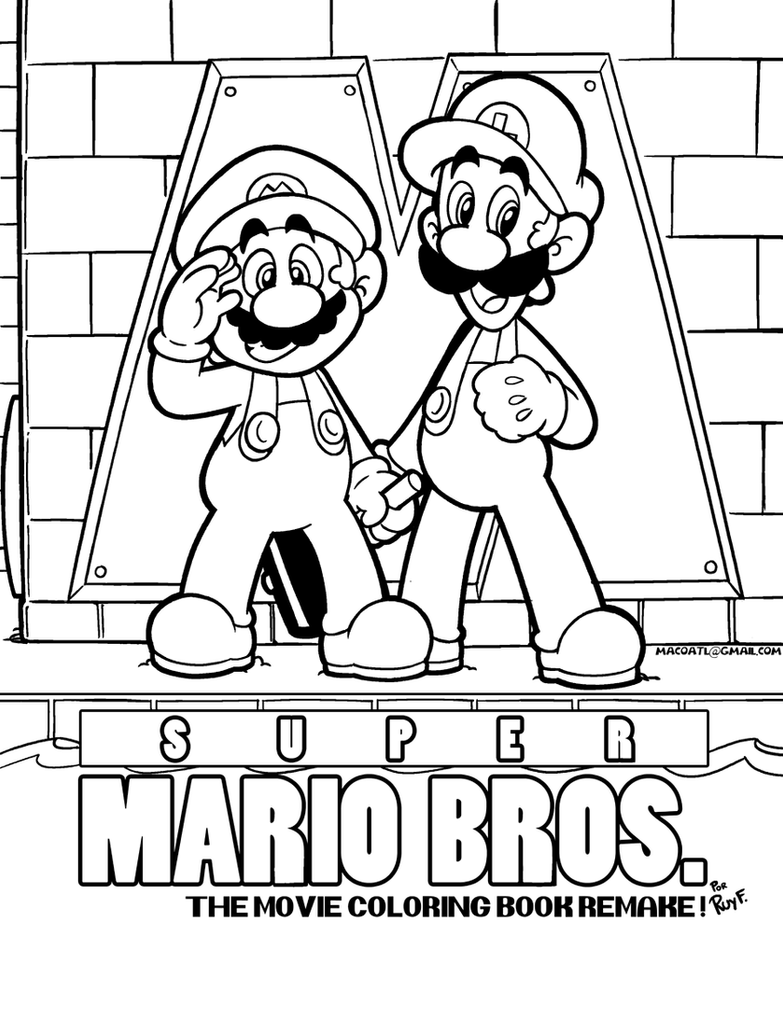 SMB the movie coloring book REMAKE by FlintofMother3 on DeviantArt