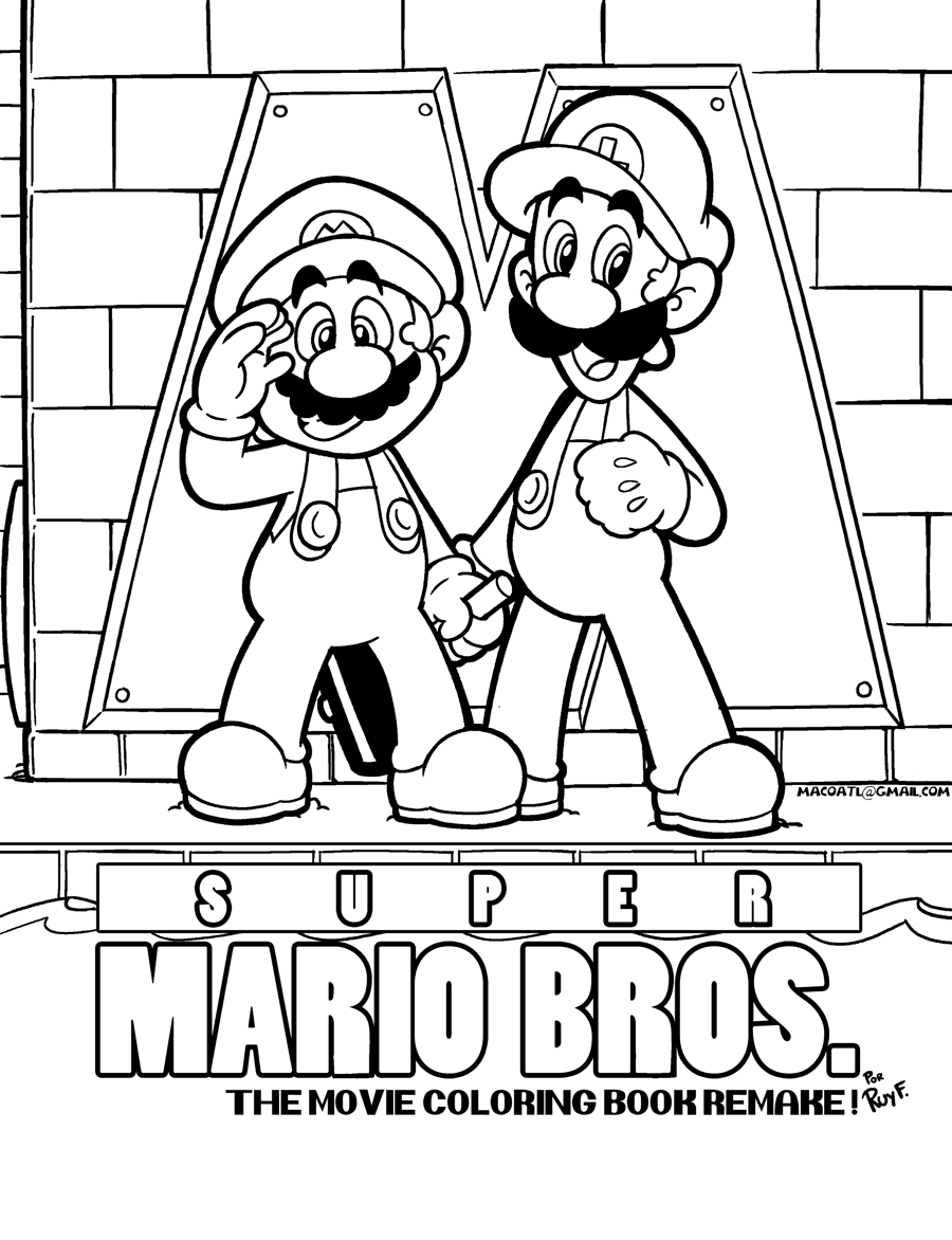 SMB the movie coloring book REMAKE by FlintofMother3 on ...