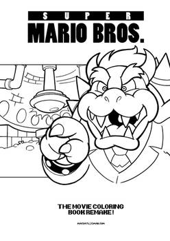 Super Mario Bros Movie Coloring Book Remake By D1n0 Mann94