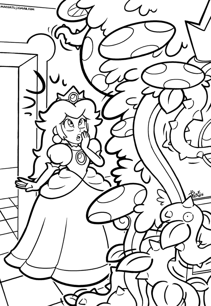 SMB the movie coloring book REMAKE 44 by FlintofMother3