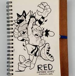 INKTOBER 32 RED