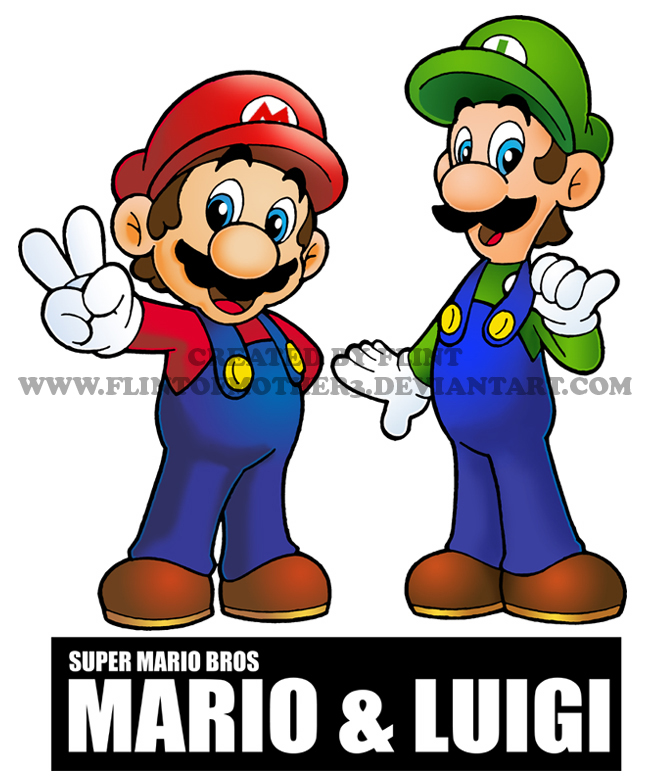 SUPER MARIO BROS AND LUIGI By FlintofMother3
