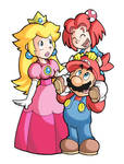 Mario, Peach and Marion...