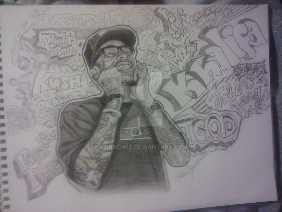 Wiz Khalifa Finished sketch by youngwiz