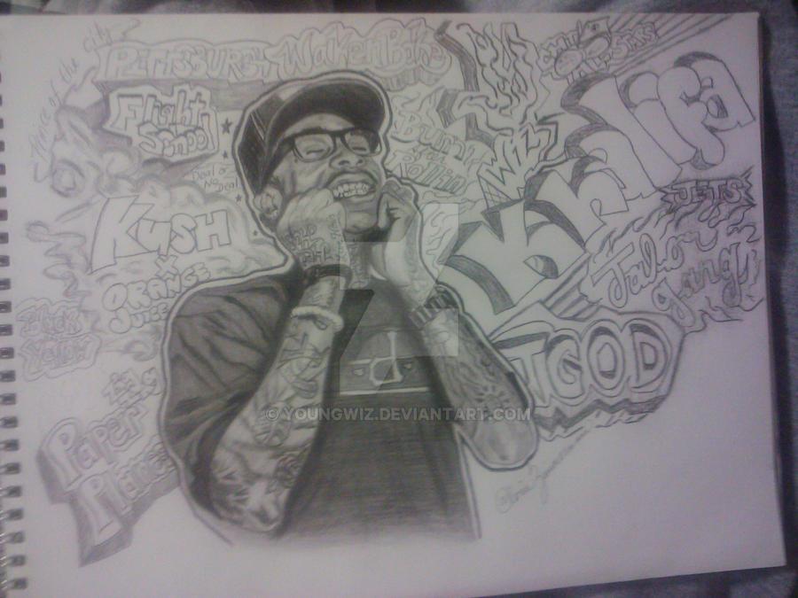 Wiz Khalifa Finished sketch by youngwiz