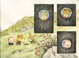 pig,rabbit and dog by ironland