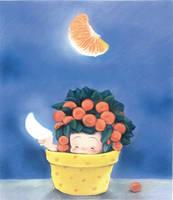 oranger moon by ironland