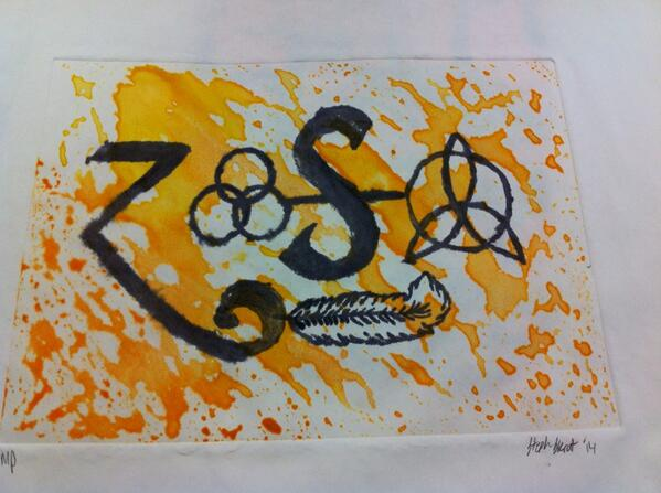 Led Zeppelin Monoprint by Chillachin