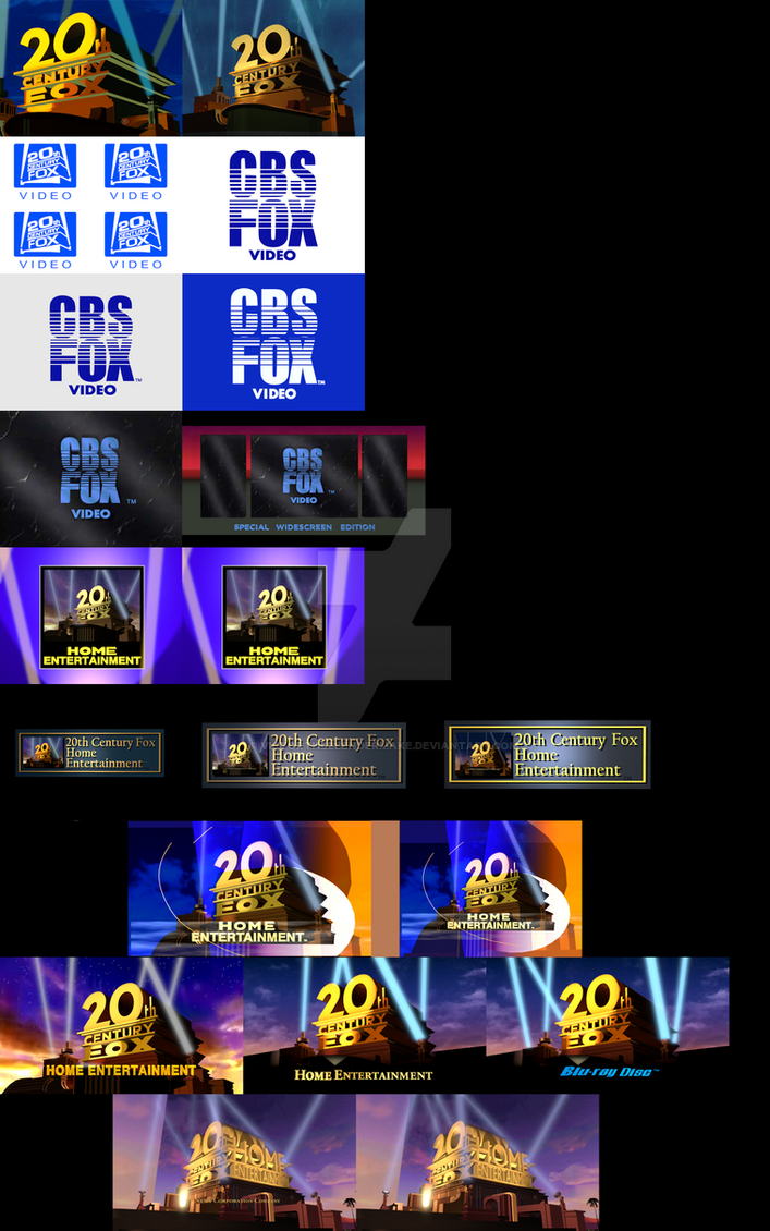 My Take On All Fox Home Entertainment Logos V4 By