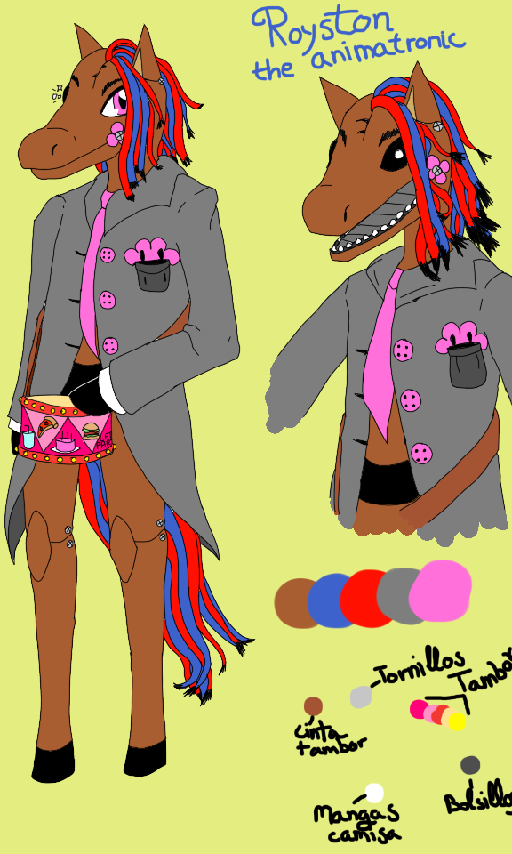 .::FNAF::.OC-Royston the animatronic horse by Nite3007