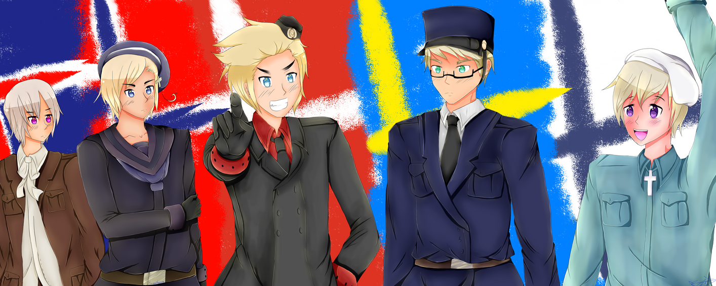 .::APH::. Always with you...Nordic Five! by Nite3007