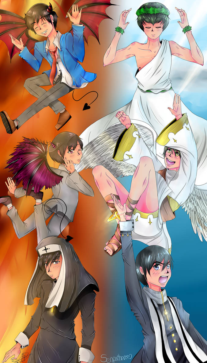 [AU Religioso] Heaven and Hell~Osomatsu-san by Senpai-Hero