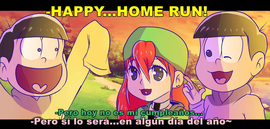 .:Gift:. Fake Screenshot- HAPPY...HOME RUN! by Senpai-Hero