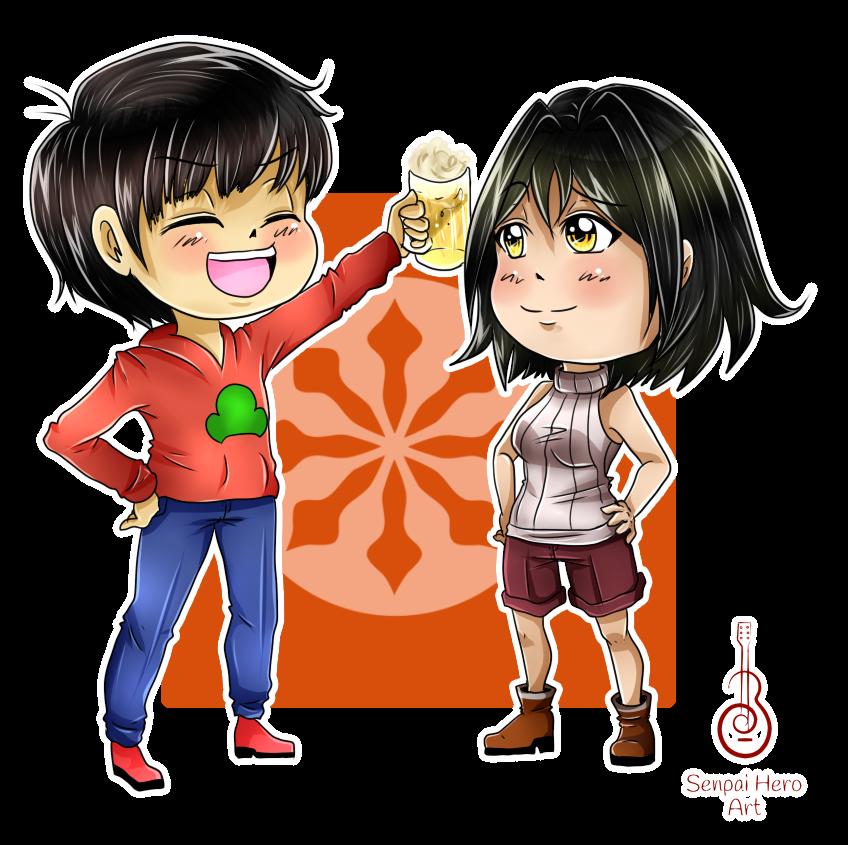 _Gift_ Osomatsu x Tsubasa by Senpai-Hero