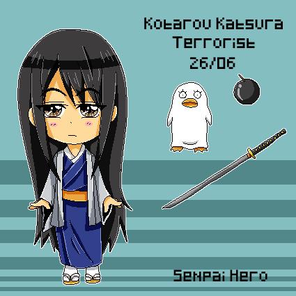 Kotarou Katsura Pixel Reference by Senpai-Hero